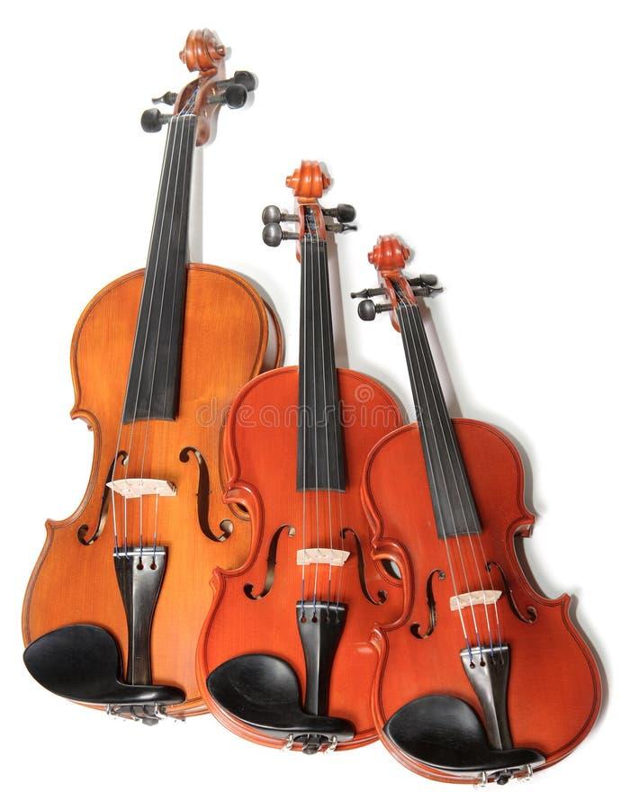 Violins Trio Royalty Free Stock Photos