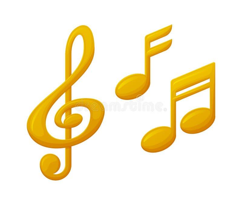 Violinschlüssel-und Anmerkungs-Zeichen-Musik-Preis, Belohnung stock abbildung