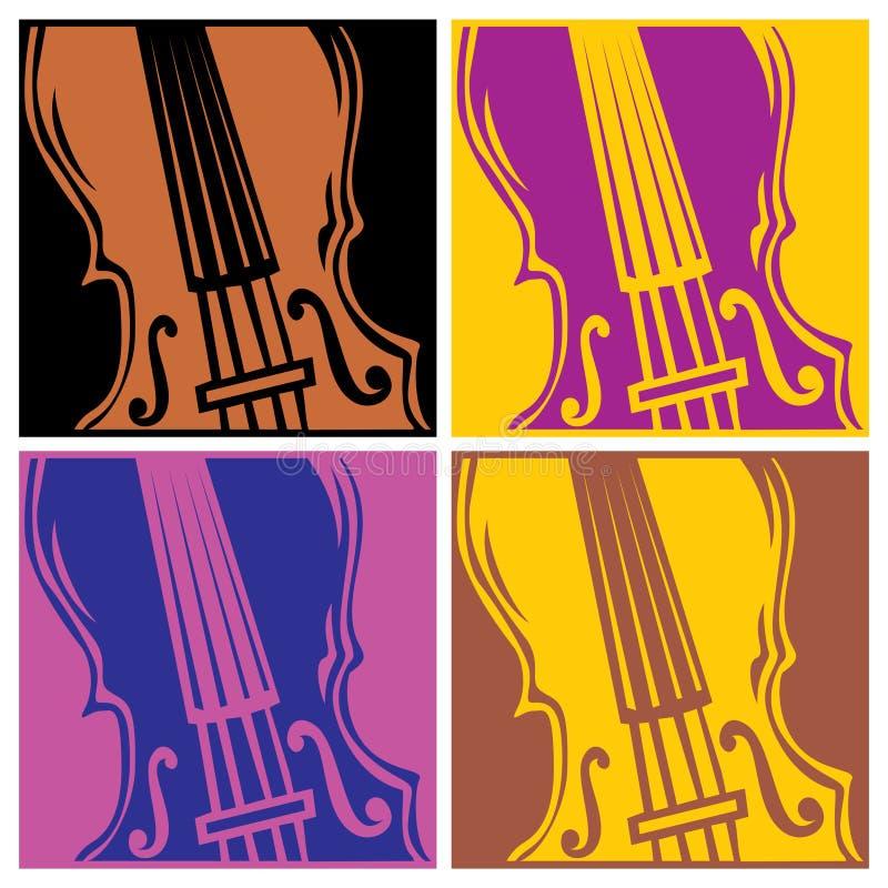 Violon illustration stock