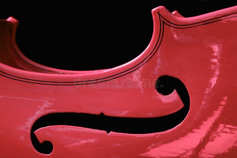 Violon rouge photographie stock libre de droits
