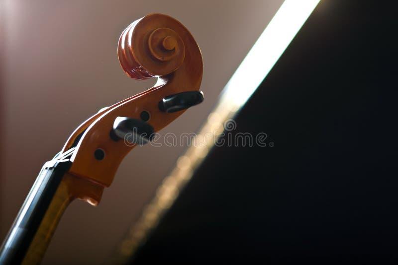 Violonceldetail stock foto