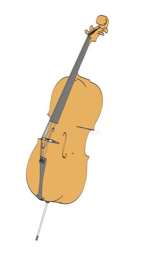 violoncell vektor illustrationer