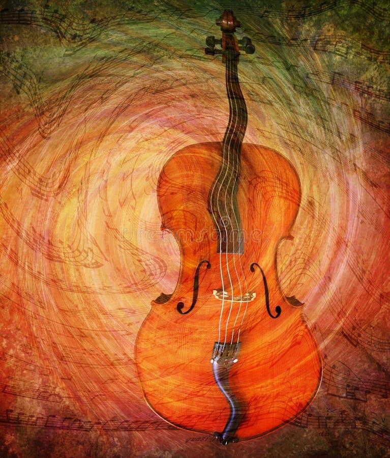 Violoncelle surréaliste illustration stock