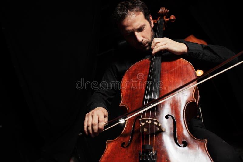 violoncellmusik arkivbilder