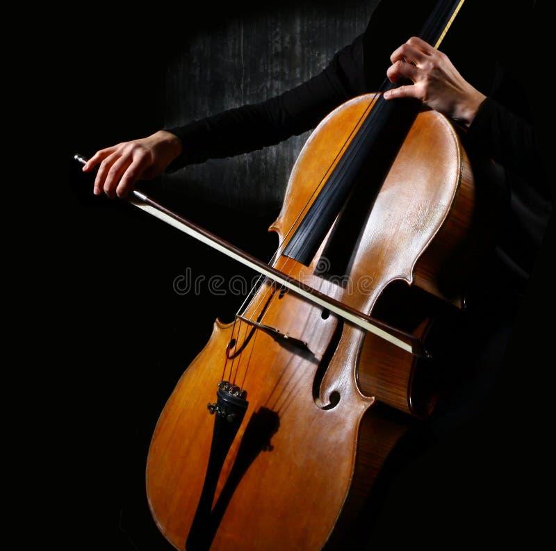 violoncellmusiker arkivbilder