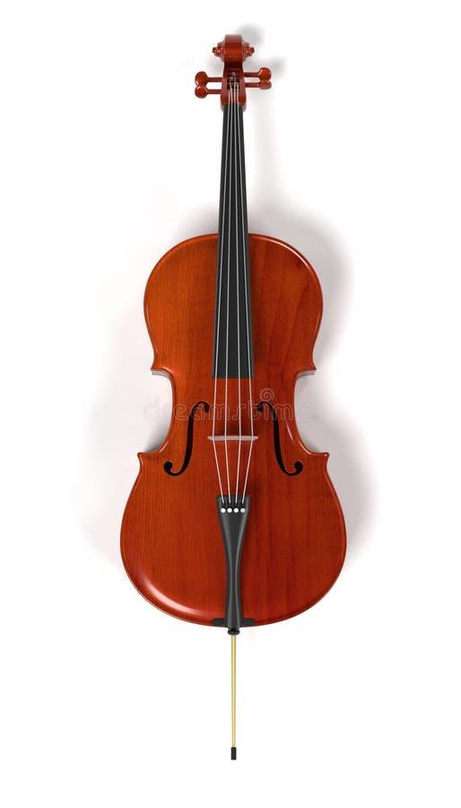Violoncellmusikinstrument stock illustrationer