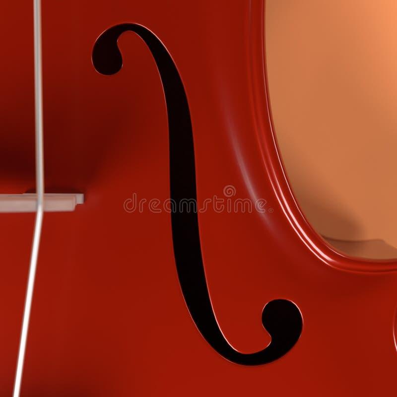 Violoncellmusikinstrument vektor illustrationer
