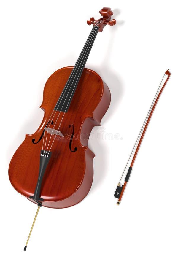 Violoncellmusikinstrument royaltyfri illustrationer