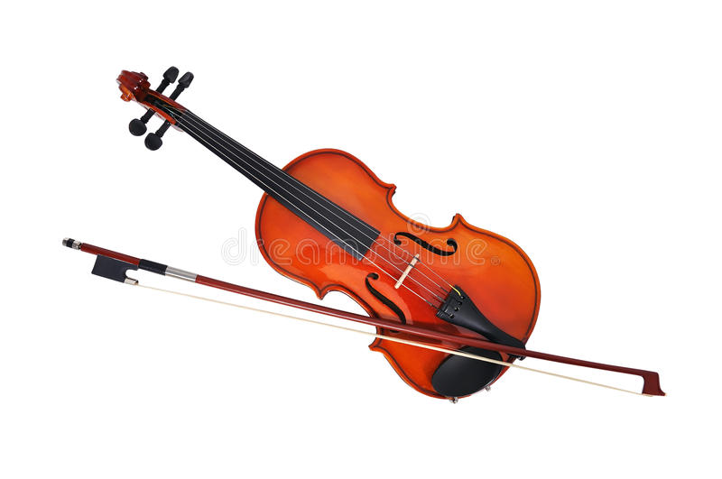 Violoncello with fiddlestick. Isolated under the white background royalty free stock images