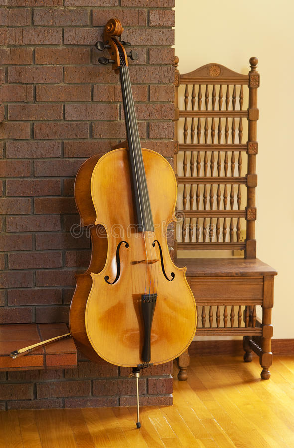 Violoncelo o violoncello foto de archivo