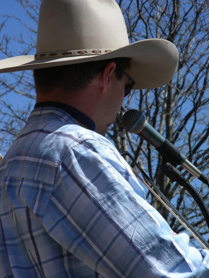 Violoneur de cowboy photographie stock