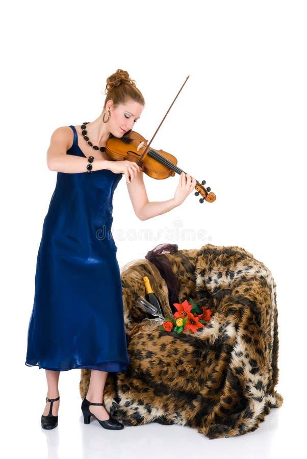 Violoniste attirant photos stock
