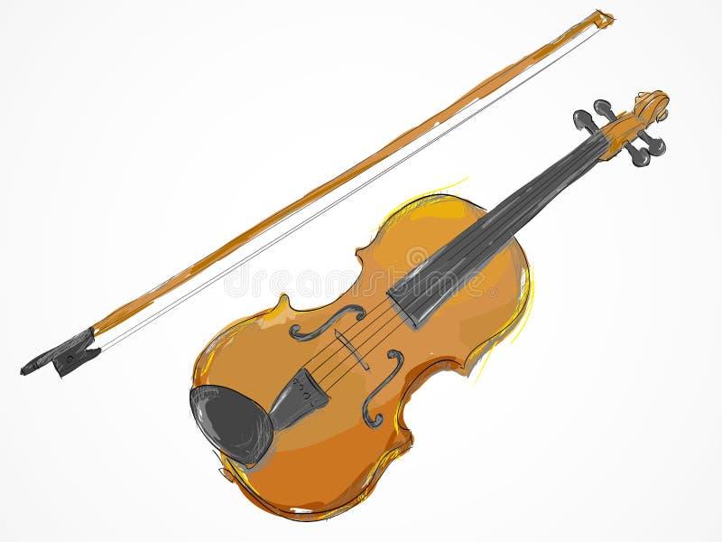viool die vectorart schilderen vector illustratie