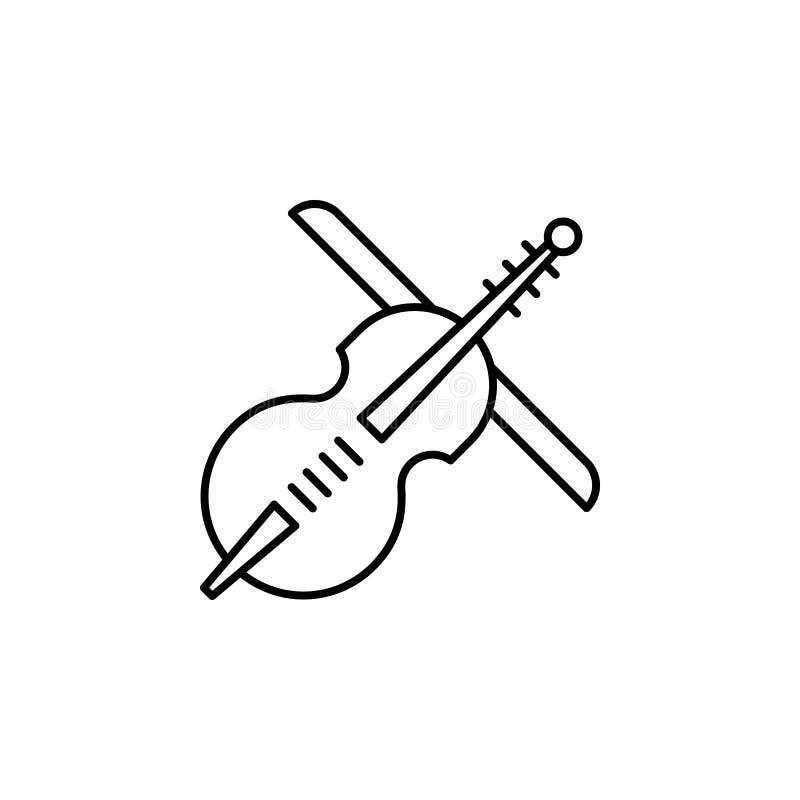 viool, het pictogram van het doodsoverzicht gedetailleerde reeks pictogrammen van doodsillustraties Kan voor Web, embleem, mobiel stock illustratie