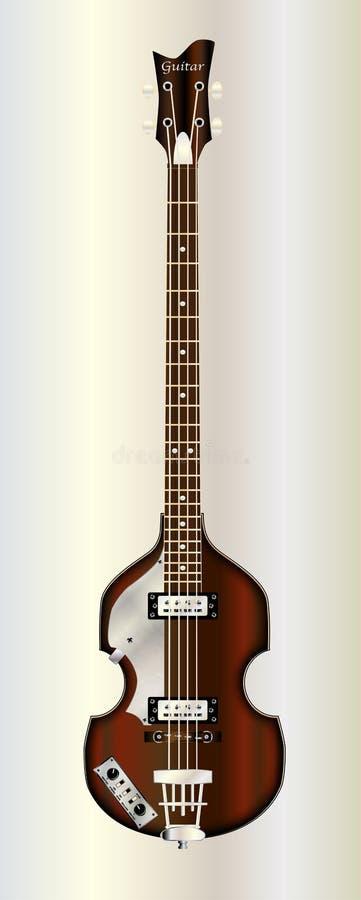 Vioolstijl Bass Guitar vector illustratie