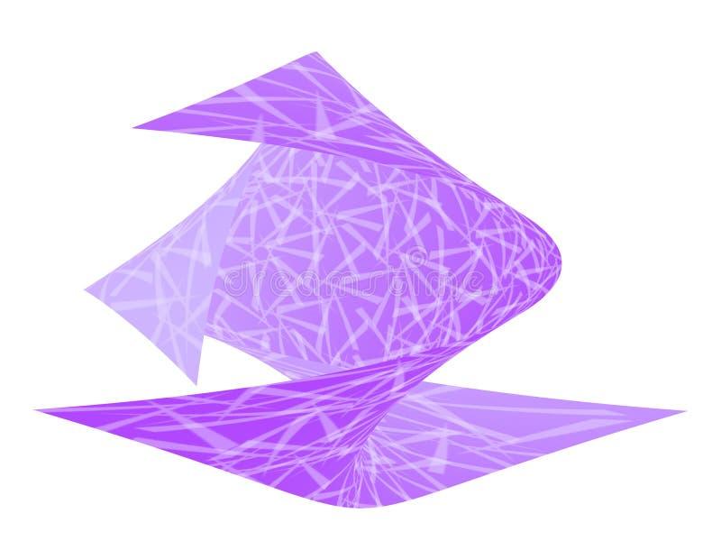 Viooltje verdraaid ontwerp stock illustratie