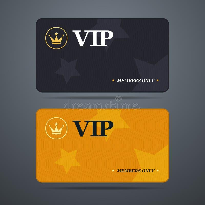 Vip与商标和摘要的卡片模板 向量例证