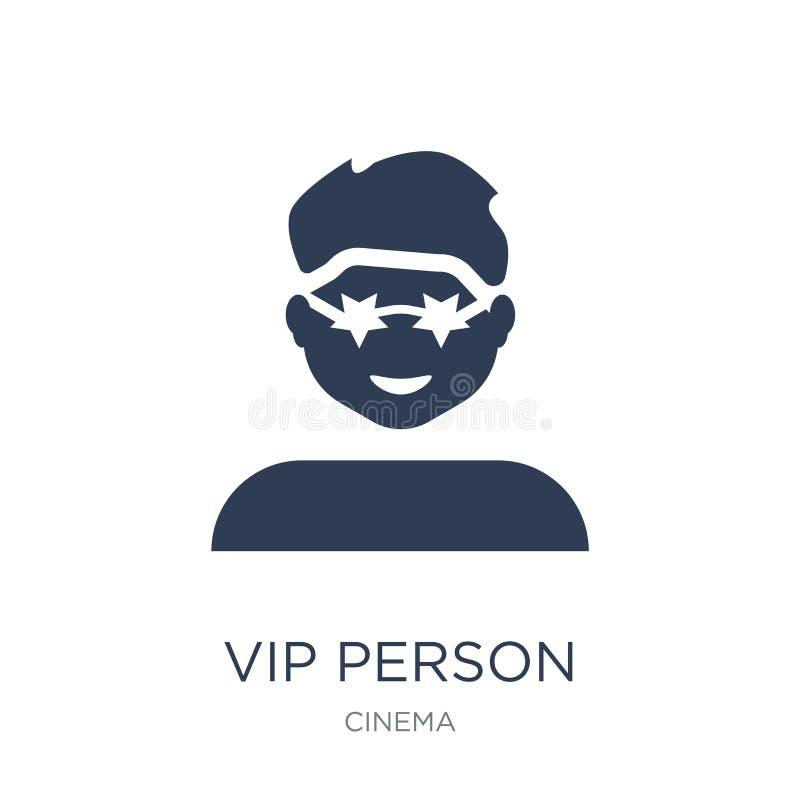 Vip人象 在白色bac的时髦平的传染媒介Vip人象 库存例证