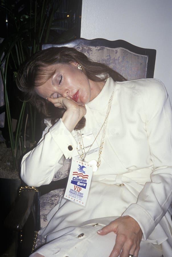 VIP在克林顿/戈尔胜利以后休息, 1992年在小岩城,阿肯色 免版税图库摄影
