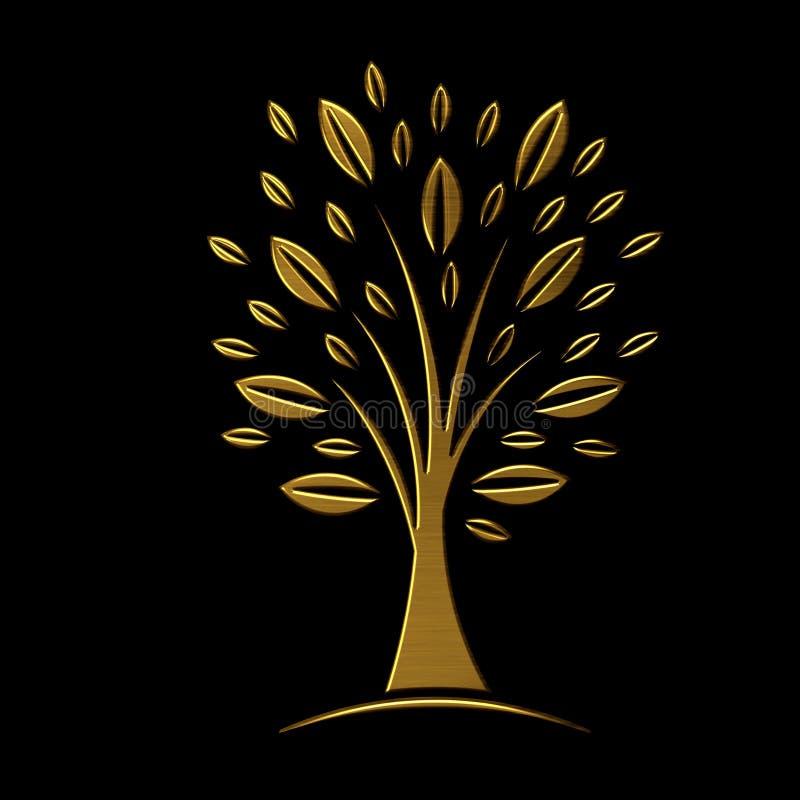 VIP的金黄树概念 向量例证