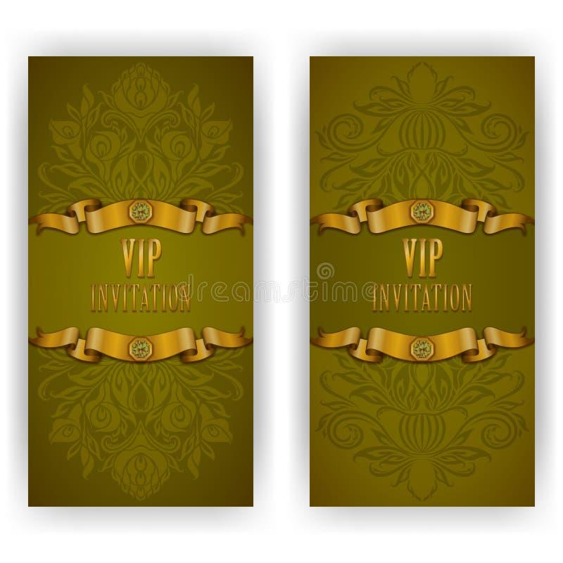 vip豪华邀请的典雅的模板 皇族释放例证