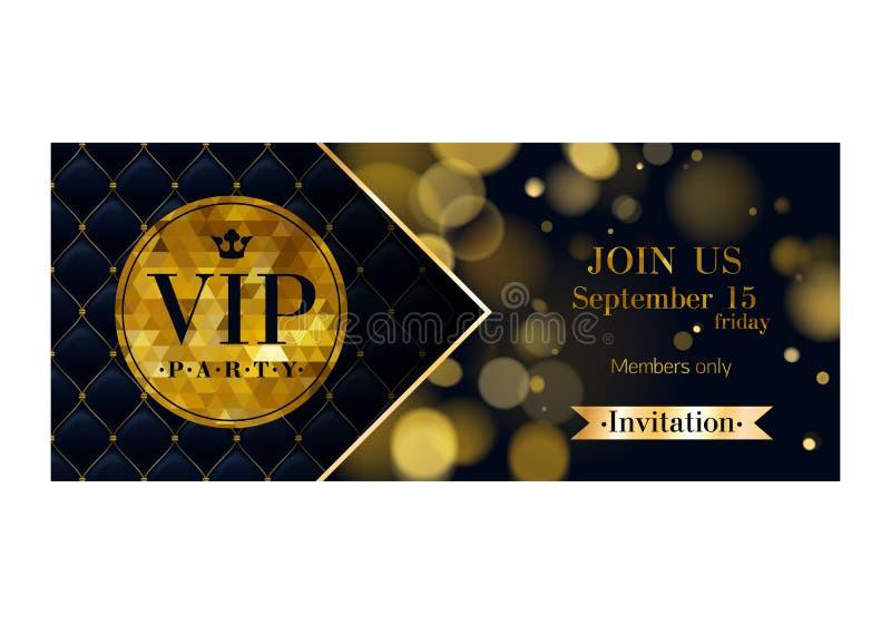 VIP邀请卡片优质设计模板 向量例证