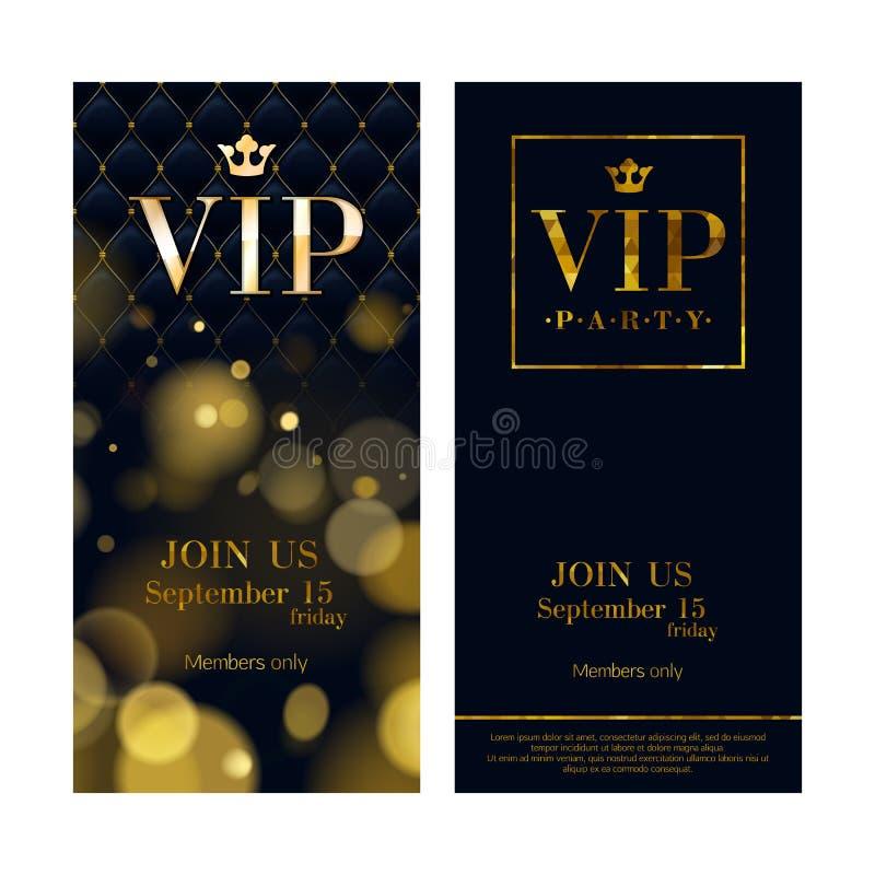 VIP邀请拟订优质设计模板 库存例证