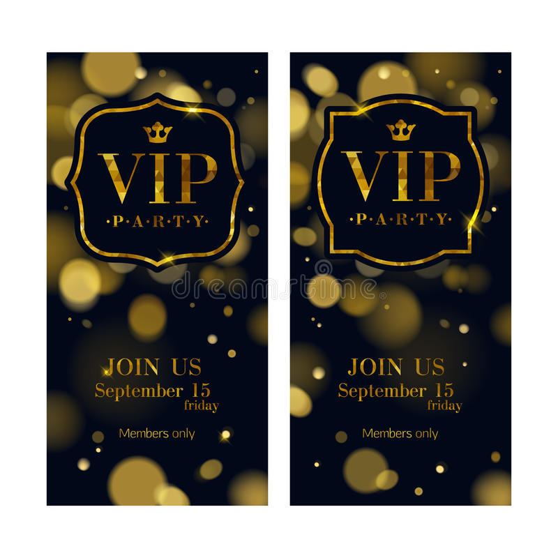 VIP邀请拟订优质设计模板 向量例证