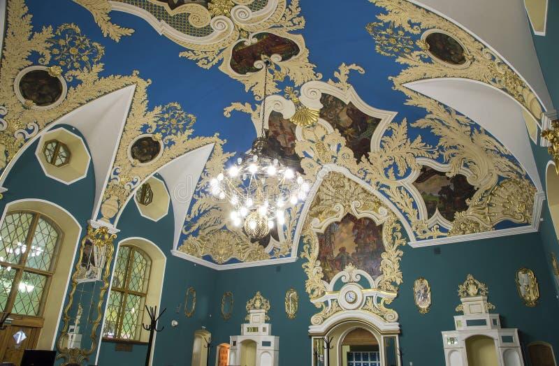 VIP-αίθουσα ή ένας υψηλότερος σταθμός Kazansky Kazansky άνεσης δωματίων σιδηροδρομικός vokzal --είναι ένα από εννέα τερματικά σιδ στοκ εικόνες