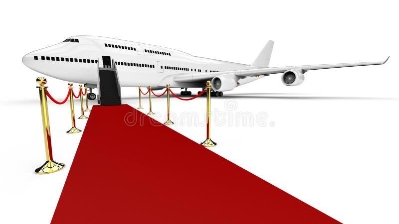 VIP επιβατηγό αεροσκάφος διανυσματική απεικόνιση