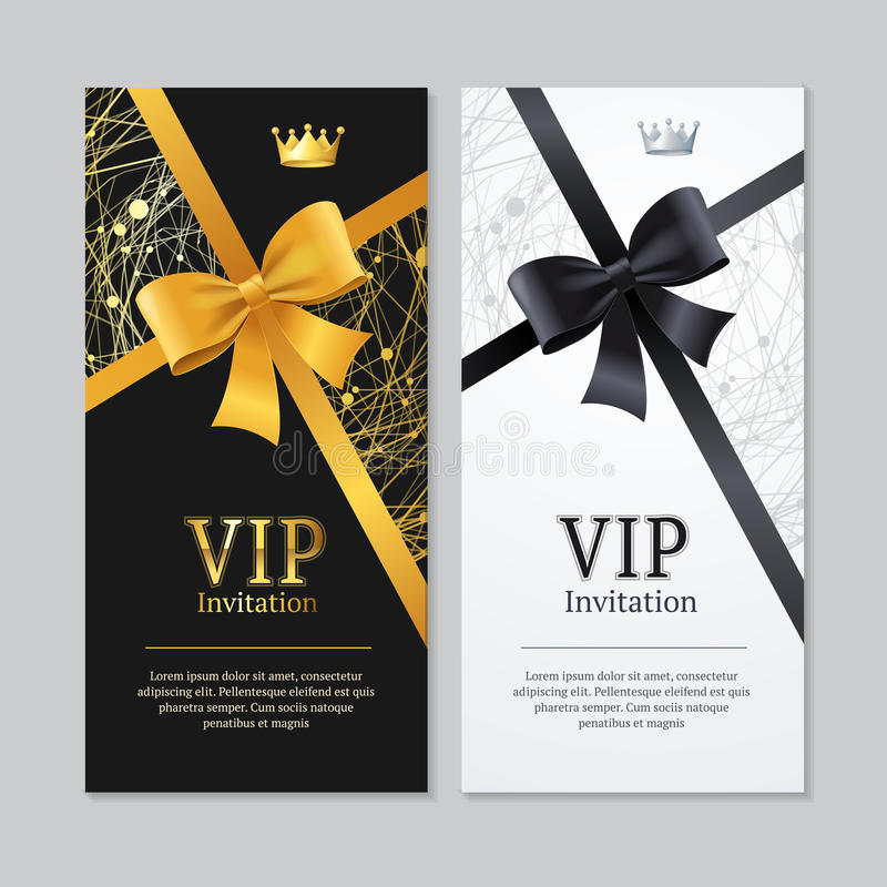 VIP πρόσκληση και σύνολο καρτών διάνυσμα ελεύθερη απεικόνιση δικαιώματος