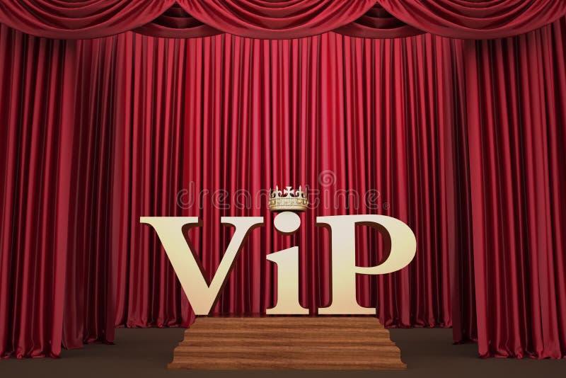 VIP στο βάθρο στο φωτισμό σκηνής ένας προβολέας διανυσματική απεικόνιση