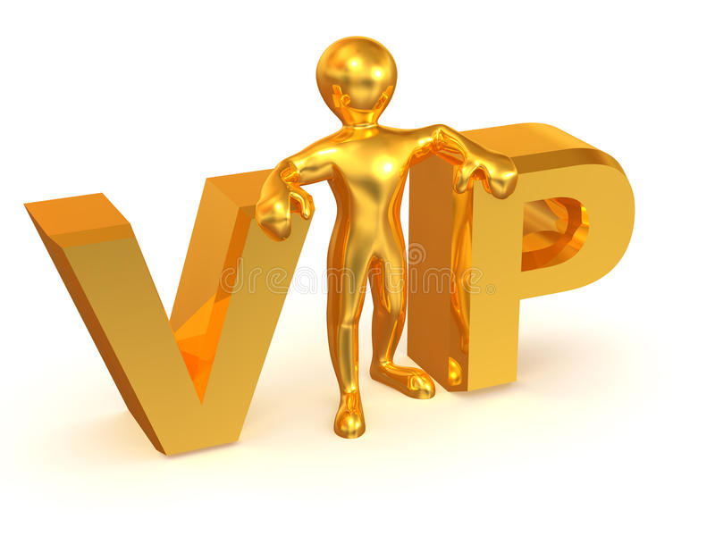 VIP. 3d Very beautiful three-dimensional illustration stock illustration