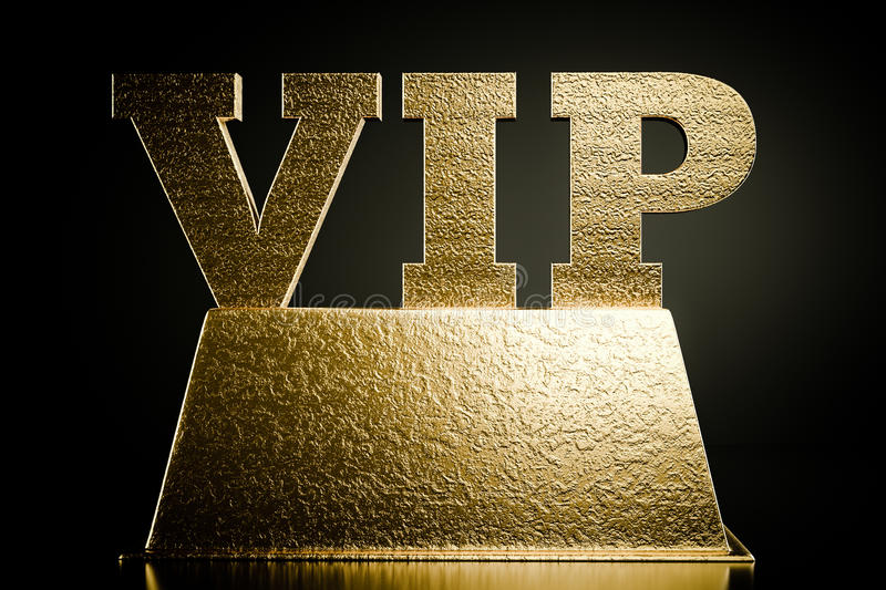 Vip. A word vip on a podium royalty free illustration