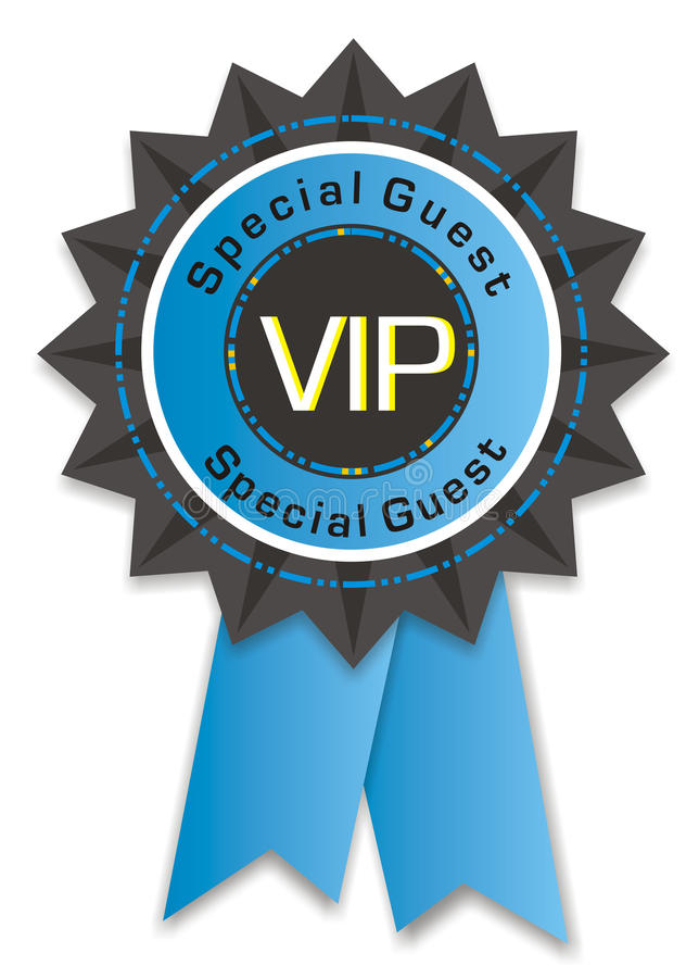 Vip badge. Isolated on white background vector illustration