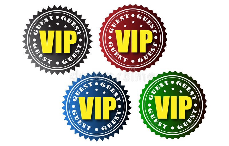 VIP badges royalty free illustration