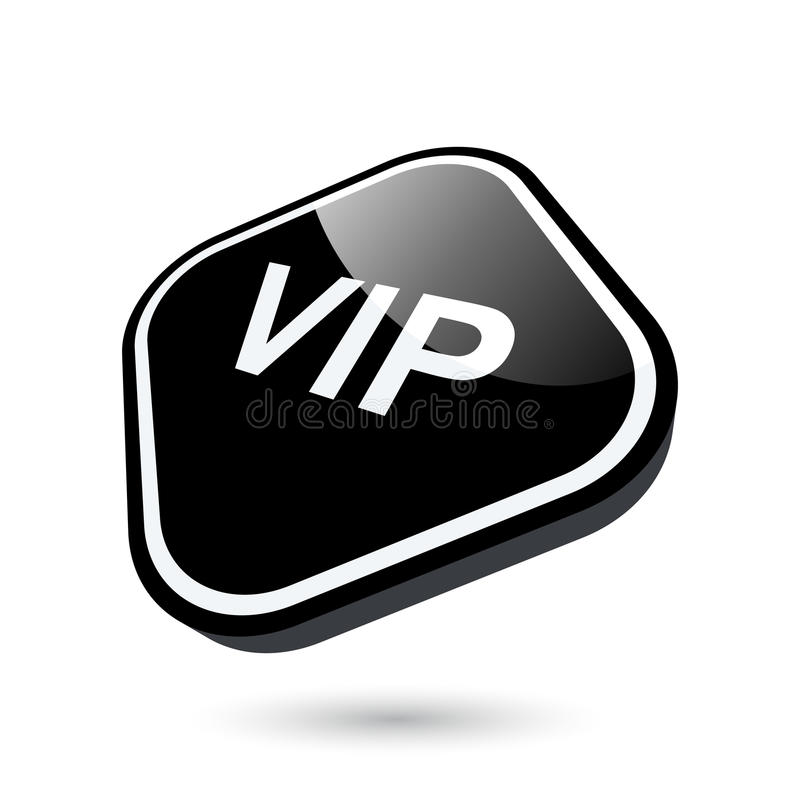 Download VIP button stock vector. Image of sign, luxury, corners - 14369767