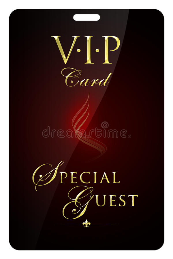 VIP Card. The sample of a VIP-card for special visitors vector illustration