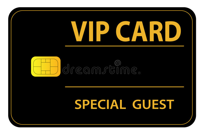 VIP Card. An illustrated VIP card for a special guest royalty free illustration