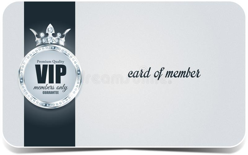 VIP card. Silver background. Premium quality. Crown royalty free stock photo