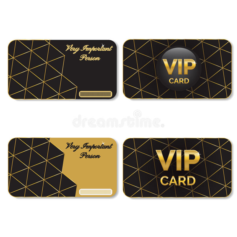 VIP Cards Black and Gold vector illustration