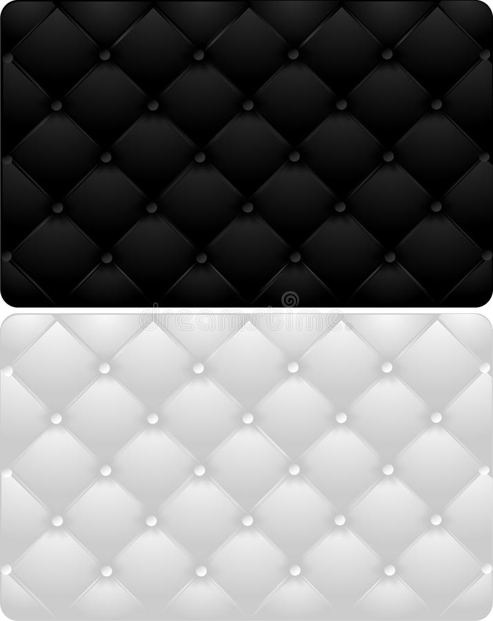 VIP cards. VIP black and white cards with soft elements vector illustration