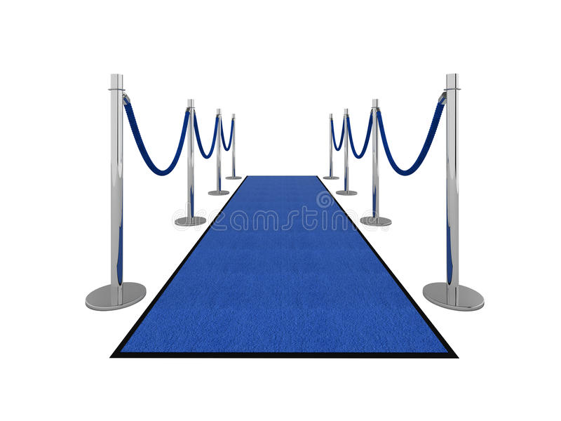 VIP carpet illustration - front view stock illustration