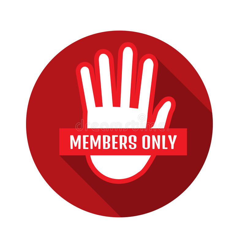Free VIP Club Members Only Banner. Vector Illustration Stock Images - 95290934