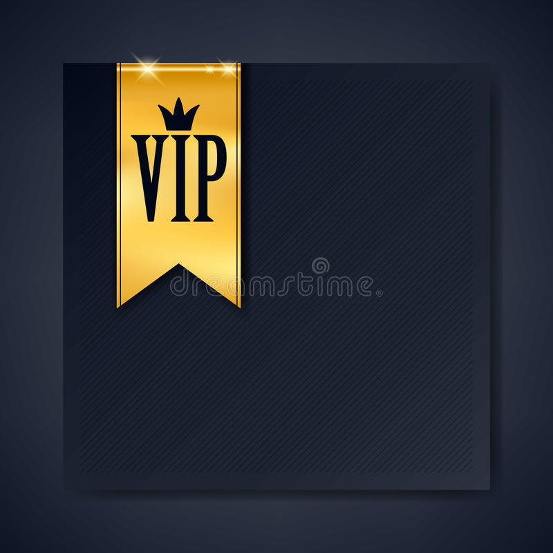 Vip club party premium invitation card poster flyer stock vector vip club party premium invitation card poster flyer black and golden design template with copy space golden ribbons decorative vector background spiritdancerdesigns Images