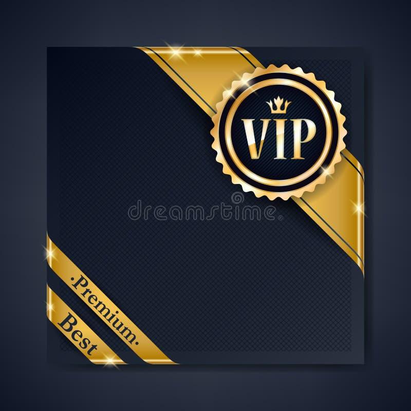 VIP club party premium invitation card poster flyer. vector illustration