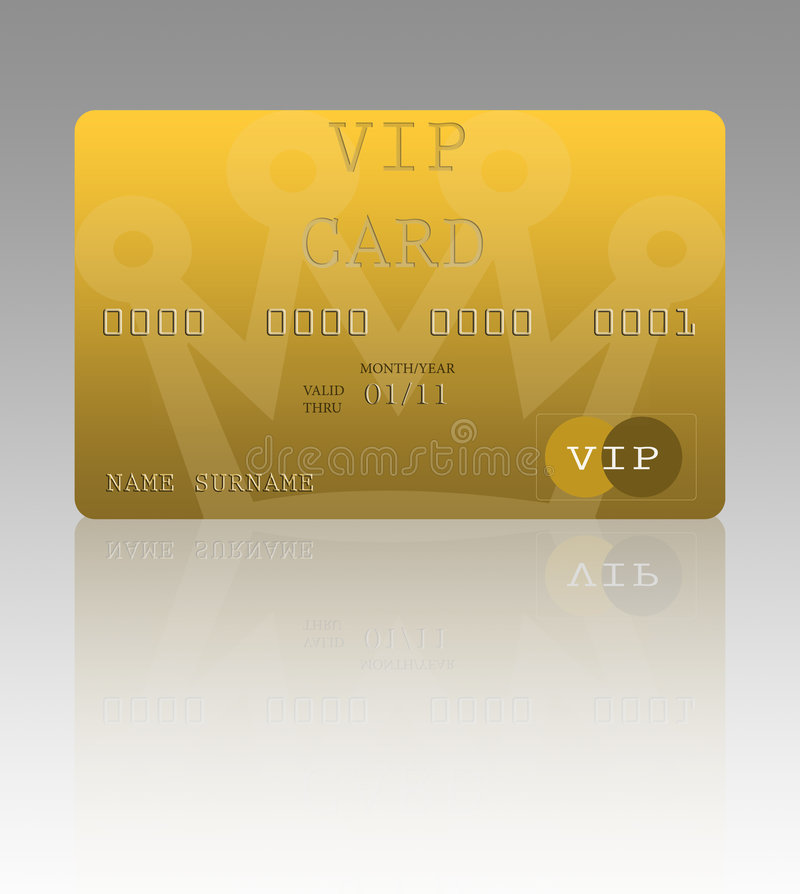 VIP Credit Card Stock Photography