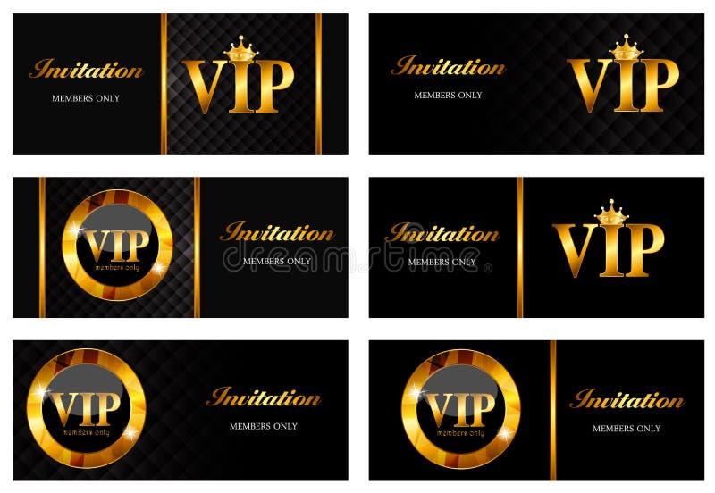 VIP członków karty Ustalona Wektorowa ilustracja ilustracja wektor
