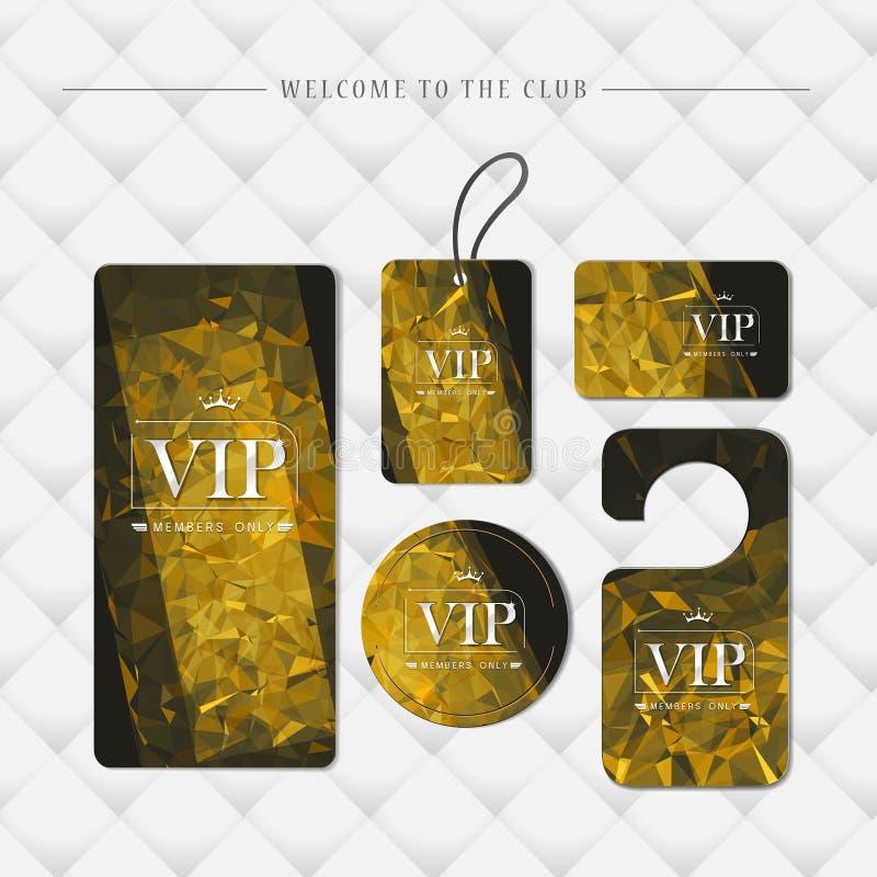 VIP członków tylko premii platyny eleganckie karty ilustracji