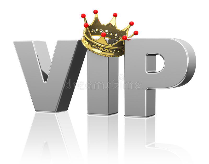 VIP. 3d generated picture of a VIP concept stock illustration
